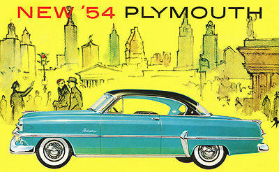 1954 Plymouth Belvedere - Promotional Advertising Poster