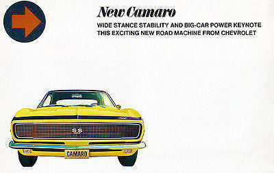 1967 Chevrolet Camaro SS - New Camaro - Promotional Advertising Poster