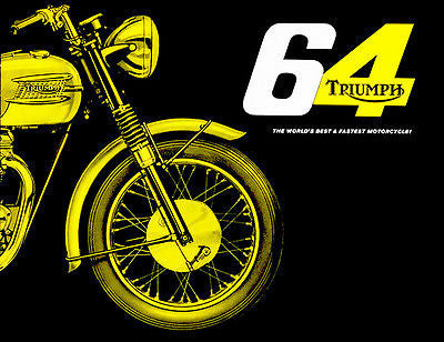 1964 Triumph Bonneville - Promotional Advertising Poster
