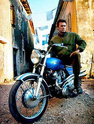Clint Eastwood on Norton Commando S Motorcycle - Photo Magnet