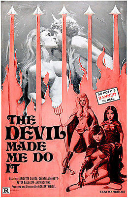 The Devil Made Me Do It - 1970 - Movie Poster