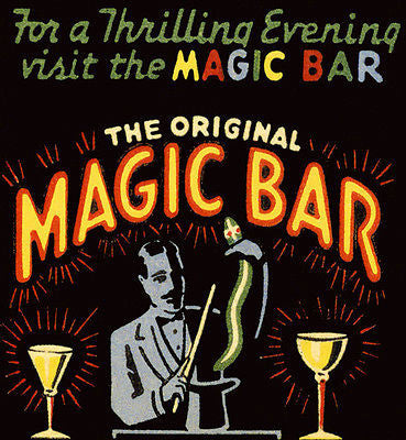 1930's - The Magic Bar - Matchbook Advertising Poster