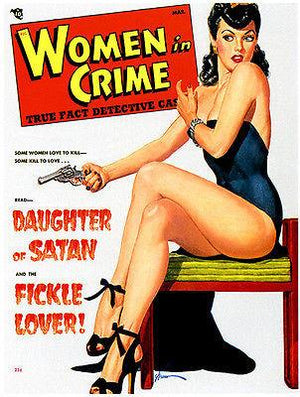 Women in Crime - 1949 - Magazine Cover Magnet
