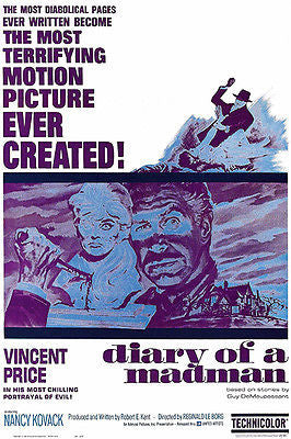 Diary Of A Madman - 1963 - Movie Poster