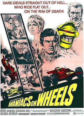Maniacs On Wheels - 1970 - Movie Poster Magnet