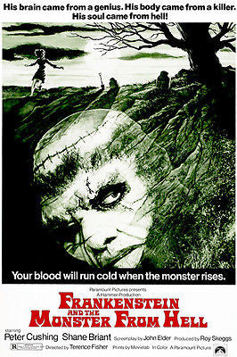 Frankenstein And The Monster From Hell - 1974 - Movie Poster