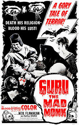 Guru The Mad Monk - 1970 - Movie Poster