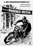 1951 Brunswick Prince Park Motorcycle Race - Promotional Advertising Poster