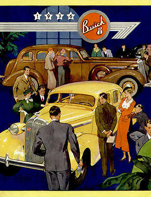 1936 Buick - Promotional Advertising Poster
