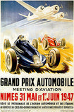 1947 Grand Prix Automobile Meeting D'Aviation  - Promotional Advertising Poster