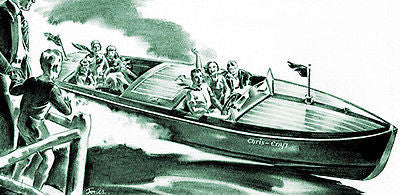 1932 Chris Craft Boats - Promotional Advertising Poster
