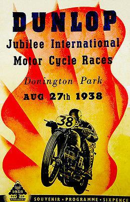 1938 Dunlap Jubilee International Motorcycle Race - Program Mug