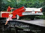 1957 Ford Fairlane 500 Sunliner - Promotional Advertising Poster
