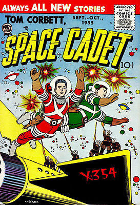 Tom Corbett, Space Cadet #3 - September 1955 - Comic Book Cover Poster