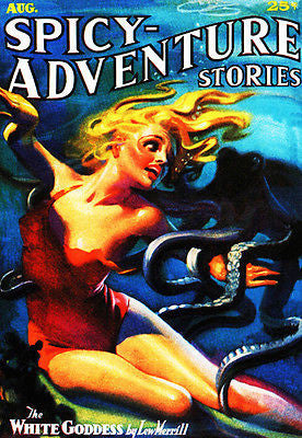 Spicy Adventure Stories - August 1936 - Magazine Cover Poster