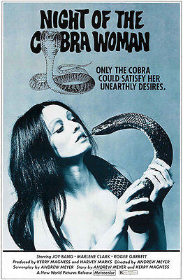 Night Of The Cobra Woman - 1972 - Movie Poster