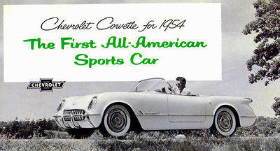 1954 Chevrolet Corvette - All American - Promotional Advertising Poster