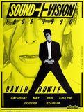 David Bowie - Sound + Vision Tour - 1990 (Yellow) Concert Poster