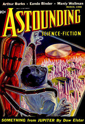 Astounding Science Fiction - March 1938 - Magazine Cover Poster