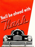 1946 Nash - You'll Be Ahead With Nash -  Promotional Advertising Poster