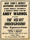Andy Warhol presents The Velvet Underground - The Gymnasium - 1967 -  Poster