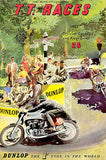 1953 Isle of Man TT Motorcycle Race - Promotional Advertising Poster