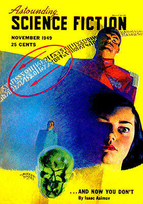 Astounding Science Fiction - November 1949 - Magazine Cover Poster