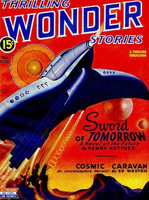 Thrilling Wonder Stories - Fall 1945 - Magazine Cover Magnet