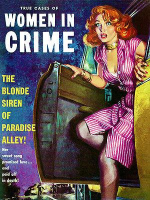 Women In Crime - January 1954 - Magazine Cover Magnet