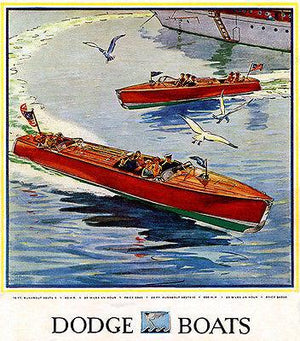 1930 Dodge Runabout Boats - Promotional Advertising Magnet