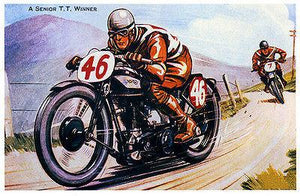 Norton A Senior TT Winner - Norton Motorcycle Racing - Promotional Magnet