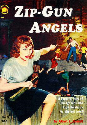 Zip Gun Angels - 1952 - Pulp Novel Cover Magnet