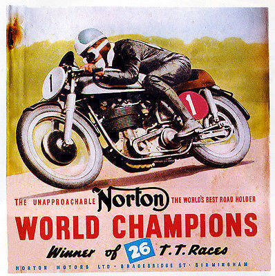 Norton - World Champions - Motorcycle Racing Poster