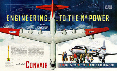1951 Convair B-36F - Promotional Advertising Poster