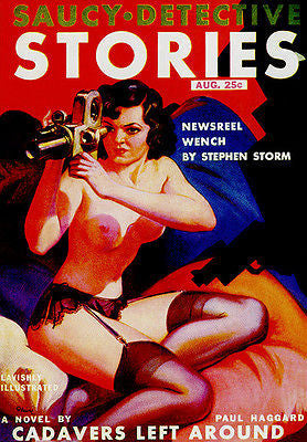 Saucy Detective Stories - August 1937 - Magazine Cover Poster