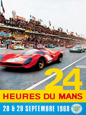 1968 24 Hours of Le Mans Race - Promotional Advertising Poster