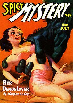 Spicy Mystery Stories - July 1936 - Magazine Cover Magnet