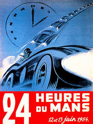 1954 24 Hours of Le Mans Race - Promotional Advertising Poster