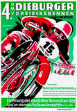 1951 Dieburger Triangle Motorcycle Race - Promotional Advertising Poster