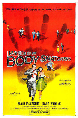 Invasion Of The Body Snatchers - 1956 - Movie Poster