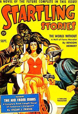 Startling Stories - September 1940 - Magazine Cover Poster