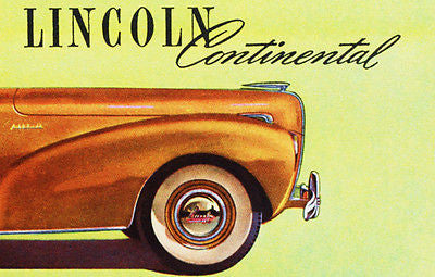 1941 Lincoln Continental - Promotional Advertising Poster