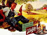 1941 Schlitz Beer - Promotional Advertising Poster