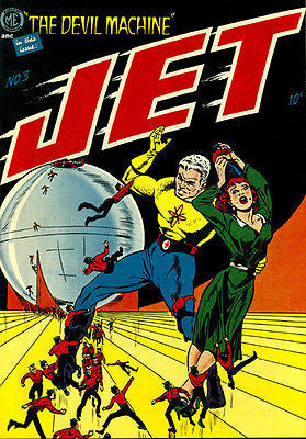 Jet Powers #3 - 1951 - Comic Book Cover Poster