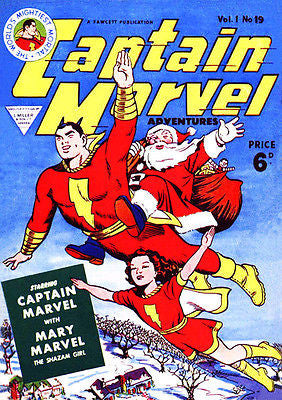 Captain Marvel #19 - 1941 - Comic Book Cover Poster