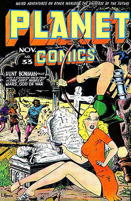 Planet Comics #33 - Comic Book Cover Poster