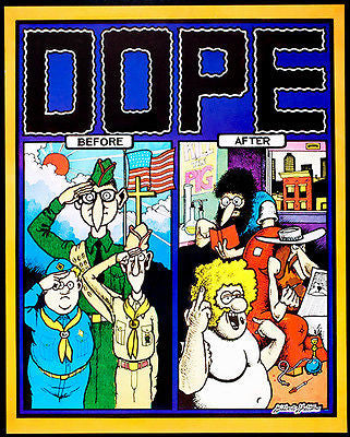 Dope - Before & After - Gilbert Shelton - 1972 - Pop Art Poster