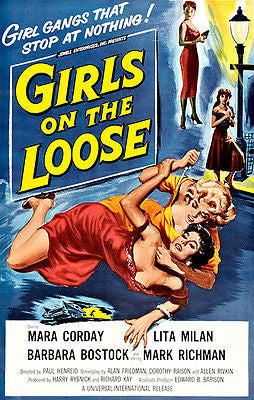 Girls On The Loose - 1958 - Movie Poster