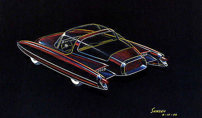 1954 Ford D523 Concept Car - Promotional Advertising Poster