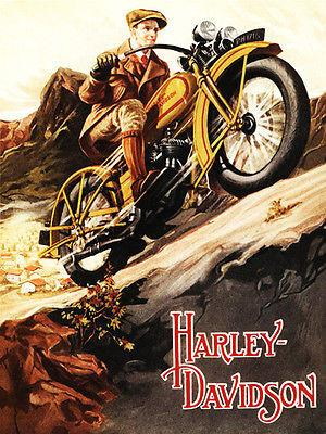 1929 Harley - Davidson - Promotional Advertising Magnet